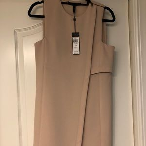BCBG nude sheath dress XS NWT